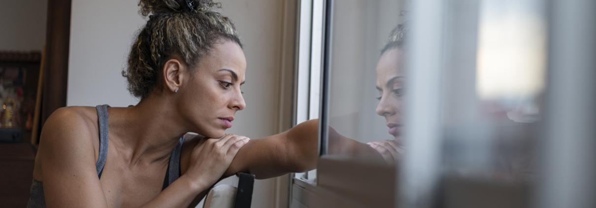 Latina Woman with PTSD
